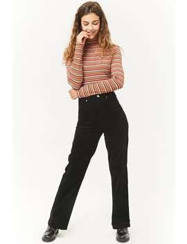 High Waist Corduroy Trousers by Forever 21