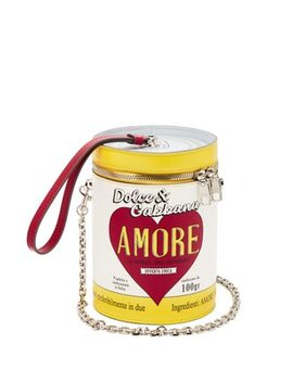 Amore Can Leather Clutch by Dolce & Gabbana