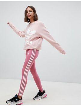 Adidas Originals   Leggings Rosa Con Tre Strisce by Asos