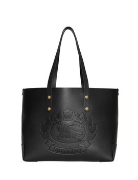 Crest Small Leather Tote Bag by Burberry