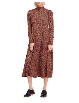 Loveless Printed Midi Dress by Free People