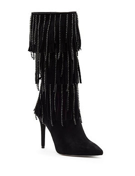 Linko Fringe Tall Dress Boots by Jessica Simpson