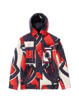 Moncler X Craig Green Patchwork Laplace Padded Hooded Jacket by End.