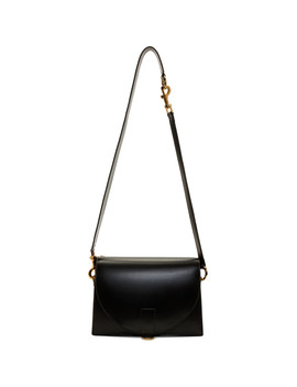Black Hybrid Satchel Shoulder Bag by Sacai