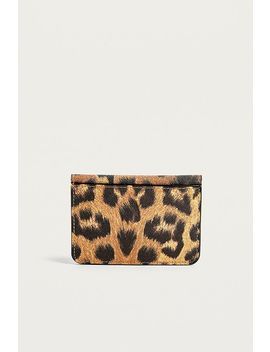 Uo Leopard Print Envelope Cardholder Wallet by Urban Outfitters