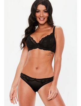Black Underwired Lace Bra by Missguided