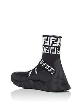 Logo Sock Sneakers by Fendi