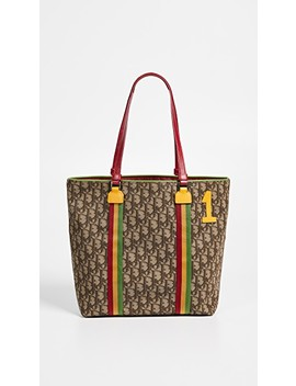Dior Brown Rasta Tote by What Goes Around Comes Around