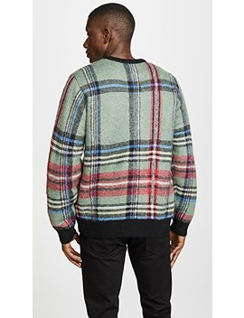 Plaid Mohair Sweater by Stussy