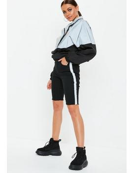 Black Denim Reflective Cycling Shorts by Missguided