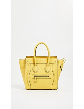 Celine Drum Luggage Micro Bag by What Goes Around Comes Around