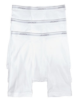 Men's 3 Pack Essential Fit Cotton Staycool+ Midway Boxer Briefs by Jockey
