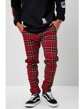 Solid & Check Skinny Trousers by Forever 21