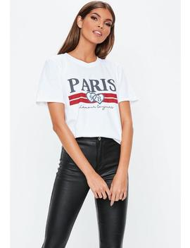 White Paris 98 Graphic T Shirt by Missguided