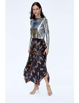 Asymmetric Pleated Skirt  Jacketswoman by Zara