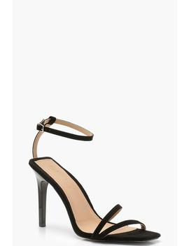 Cage Strap Square Toe Heels by Boohoo