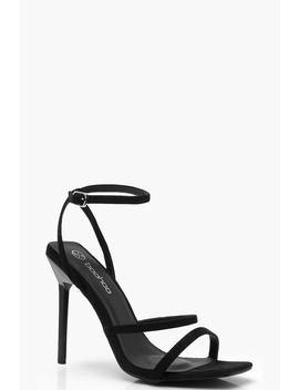 Square Toe Cushioned Strappy Heels by Boohoo