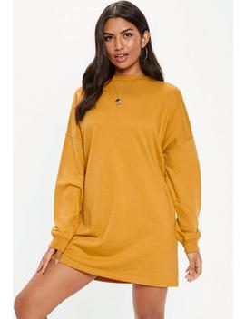 Mustard Basic Sweater Dress by Missguided