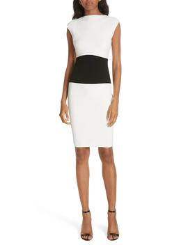 Bateau Colorblock Stretch Sheath Dress by Milly