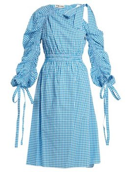 Asymmetric Cotton Gingham Dress by Teija