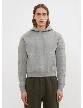 Renwhar Panel Hooded Sweatshirt In Grey by Gmb H