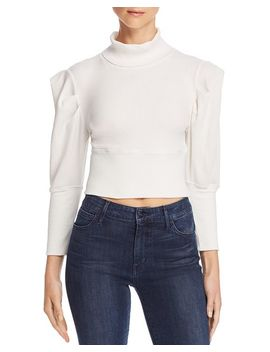 Lala Puff Sleeve Cropped Top by Free People