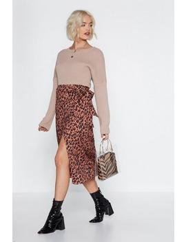 Help Meow T Leopard Skirt by Nasty Gal