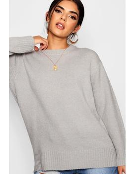 Oversized Boyfriend Jumper by Boohoo