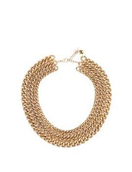 Ingranaggio Brass Chain Necklace by Rosantica By Michela Panero