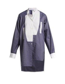 Asymmetric Bib Front Cotton Shirt by Loewe