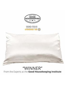 "Fishers Finery 25mm Luxury 100 Percents Pure Mulberry Silk Pillowcase Good Housekeeping""Winner"" by Fishers Finery"