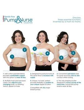 Rumina's Pump&Nurse Strapless All In One Nursing Bra With Built In Hands Free Pumping Bra by Rumina Pump&Nurse