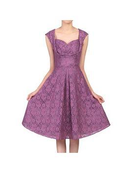 Jolie Moi   Dark Purple Crossover Bust Lace Prom Dress by Jolie Moi