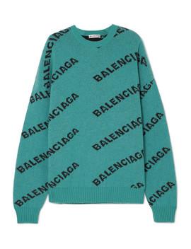 Oversized Pullover Aus Einer Wollmischung Mit Intarsienmotiven by Balenciaga