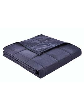 Yn M Cotton Weighted Blanket, 12 Lbs 48''x72'' For Twin Bed, 2.0 Heavy Blanket, Dark Grey by Yn M