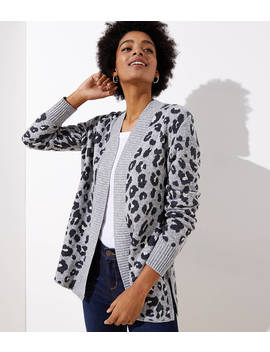 Leopard Open Cardigan by Loft