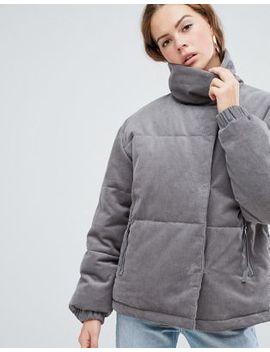 Вельветовая дутая куртка Asos Design by Asos