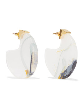 Chac Disc Resin And Gold Plated Earrings by Ejing Zhang