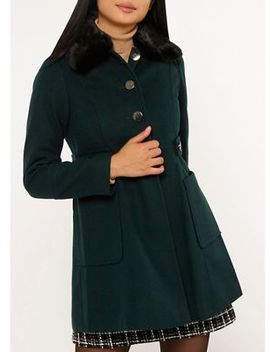 Dorothy Perkins   Petite Forest Dolly Coat by Dorothy Perkins