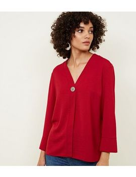Red Single Button Blouse by New Look