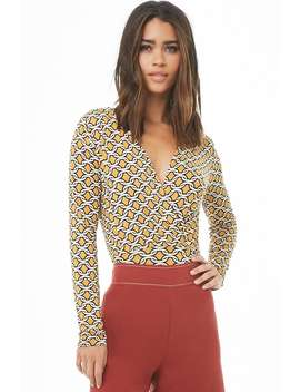 Abstract Print Surplice Top by Forever 21