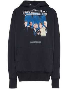 Speed Hunters Cotton Blend Hoodie by Balenciaga