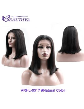 Brazilian Hair Lace Front Human Hair Wig Short Bob Wigs For Women Black Brazilian Straight Hair 130 Percents Density Wigs 10 20 Inches by Beaudiva