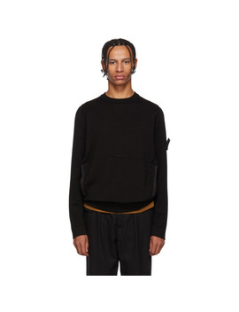 Pull Molletonné Noir Lacuna by Stone Island Shadow Project