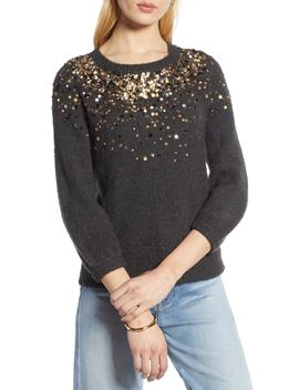 Sequin Detail Sweater by Halogen®