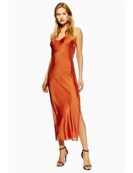 Tall Plain Satin Slip Dress by Topshop