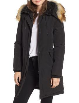 Faux Fur Trim Down Jacket by Sam Edelman
