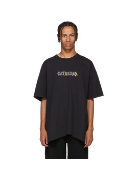 T Shirt Noir 'saturday' Weekday by Vetements