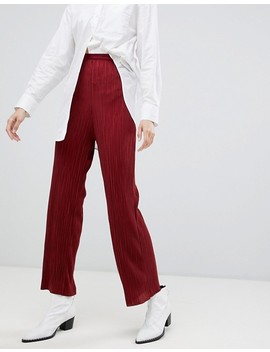 Selected Lecia Plisse Trousers by Selected