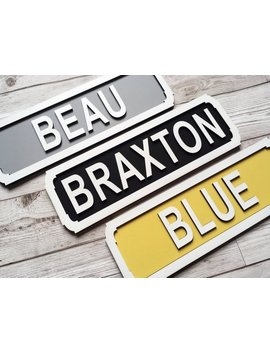 Personalised Plaque   Name Sign   Street Sign   Wall Decor   Name Plaque   Wall Sign   Any Wording & Colours   Ochre   Grey   Mustard Decor by Etsy